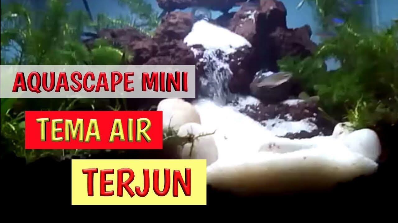 Review aquascape mini tema air terjun - YouTube