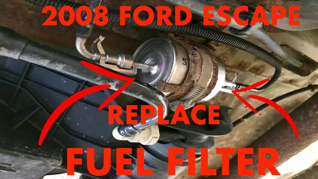 2008 Ford Escape Fuel Filter Replacement - YouTube YouTube