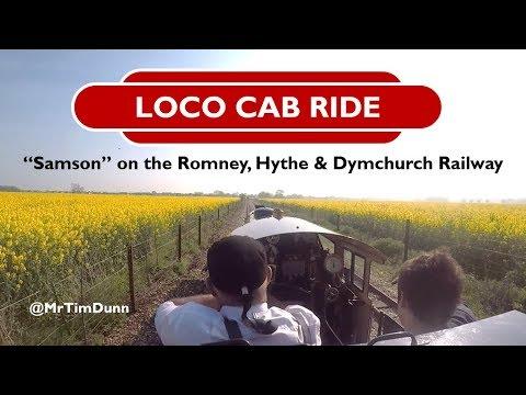 Loco cab ride: Romney, Hythe & Dymchurch Railway