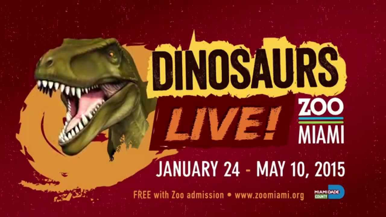 Dinosaurs LIVE! Now at Zoo Miami