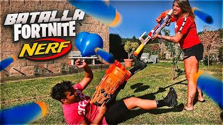 NERF VS PATTY DRAGONA BATTLE!! **Real-life Fortnite**