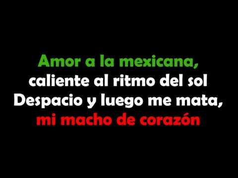 Amor a la Mexicana  Thalía Letra