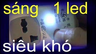 Thắp 1 led trong phòng làm đèn ngủ, Led trong ổ cắm điện 220v