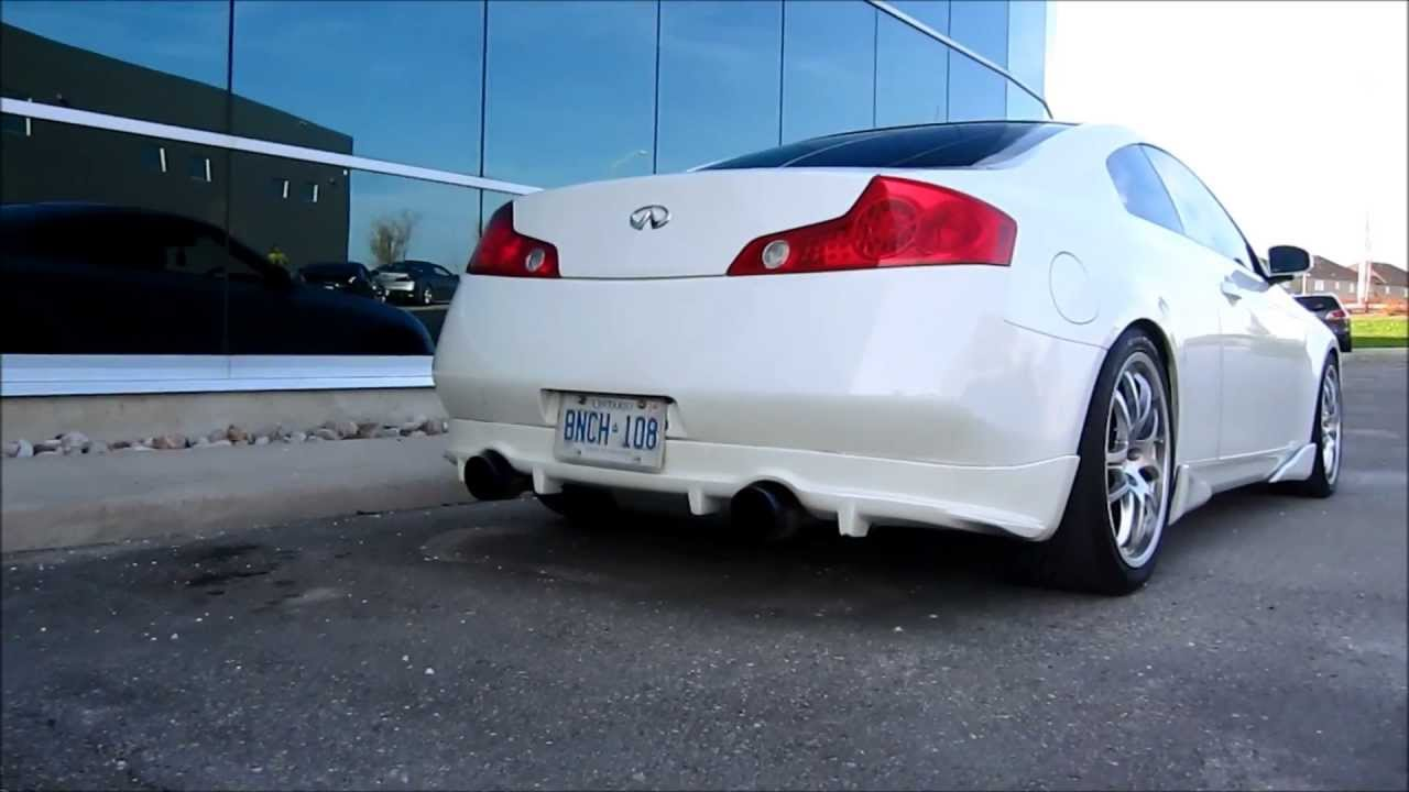 g35 coupe invidia gemini exhaust with berk hfc great sound