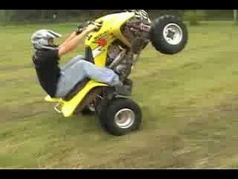 Kids Four Wheelers For Sale >> Suzuki z400 wheelie & stoppie. - YouTube
