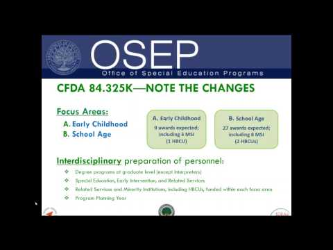 OSEP Webinar for the FY 2017   325K Grant Competition