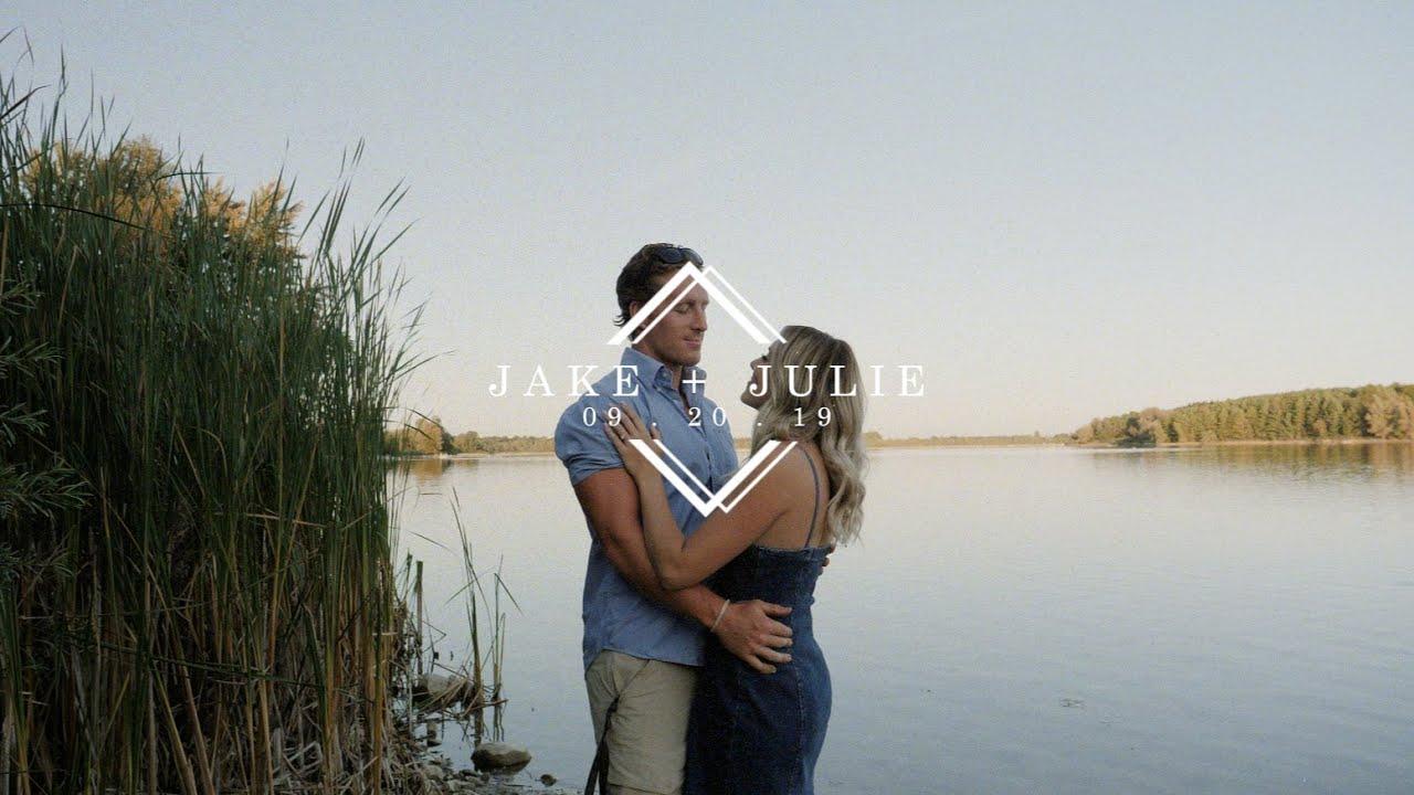 High school sweethearts host SURPRISE BACKYARD WEDDING! Jake + Julie's Wedding Film