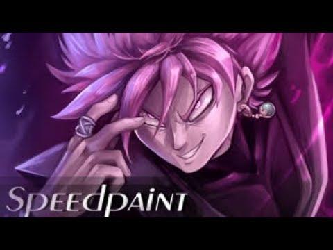 Goku Black SPEEDPAINT (Dragon Ball Super) The Black Rose