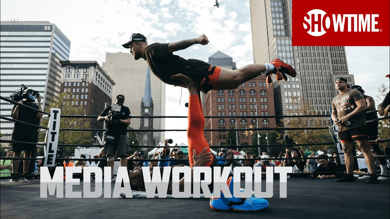 Download Paul vs. Woodley: Media Workout   SHOWTIME PPV