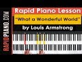 How To Play What A Wonderful World By Louis Armstrong Piano Tutorial Lesson Part 1 mp3