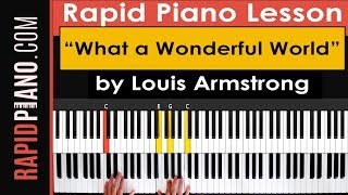 How To Play What a Wonderful World by Louis Armstrong - Piano Tutorial & Lesson - (Part 1)