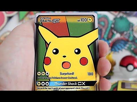 Surprised Pikachu Gx Pokemon Card Youtube