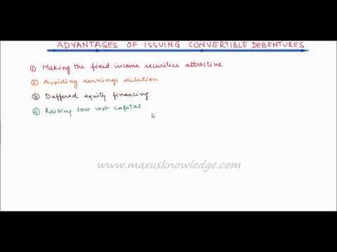 Advantages of Convertible debentures