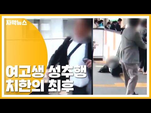 [자막뉴스] 전동차에서 여고생 성추행...30대 치한 잡은 방법 / YTN