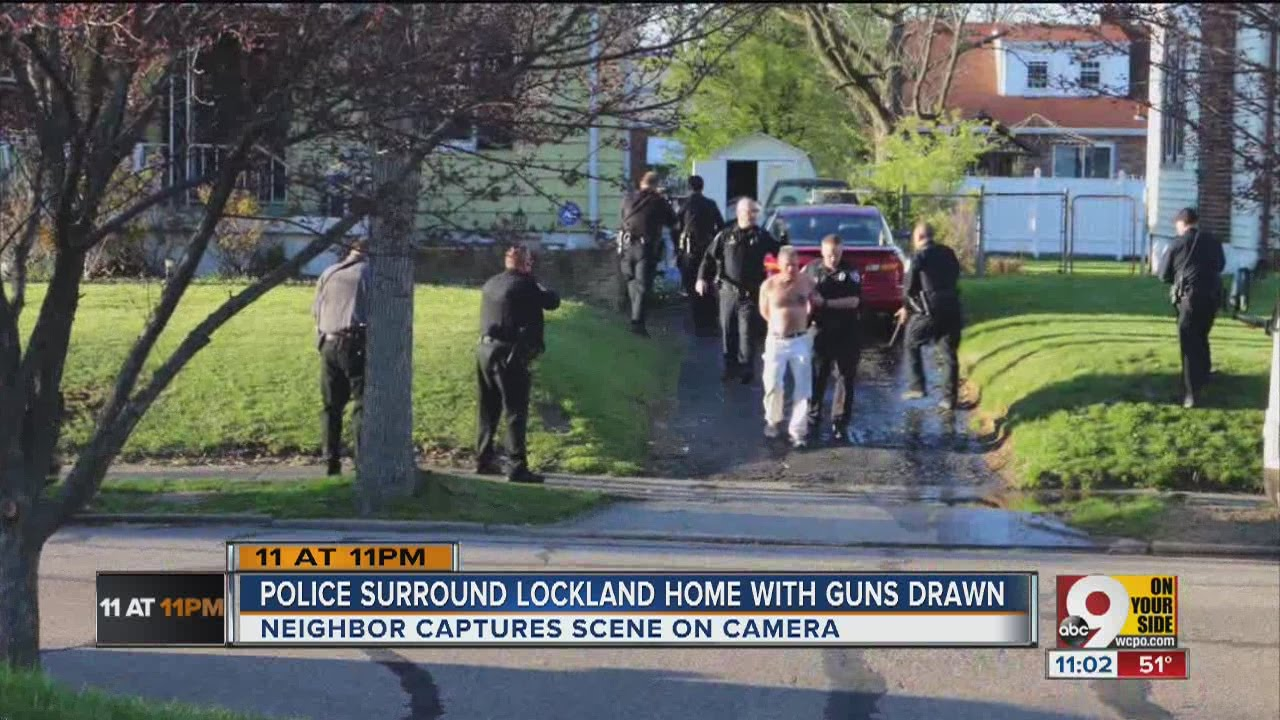 Police Surround Lockland Home With Guns Drawn Youtube