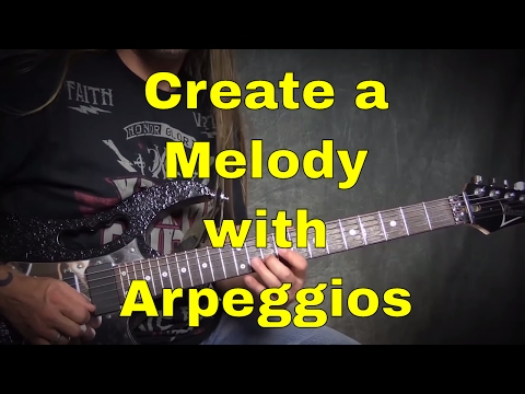 Steve Stine Guitar Lesson - Learn to Create a Melody Using Arpeggios