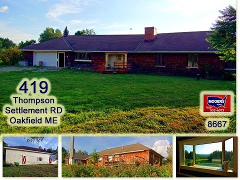 SOLD | Farms For Sale In Maine | 419 Thompson Settlement RD Oakfield ME MOOERS REALTY #8667