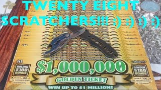 28X $1,000,000 GOLDEN TICKET California Lottery Scratchers - Group Play Round 2 | Keph Empire