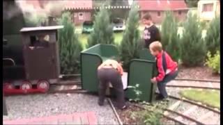 Dampflok-Gartenbahn
