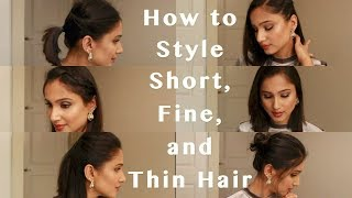 6 Heatless Hairstyles For Fine Thin And Short Hair How To Style 3rd Day Short Fine And Thin Hair Youtube