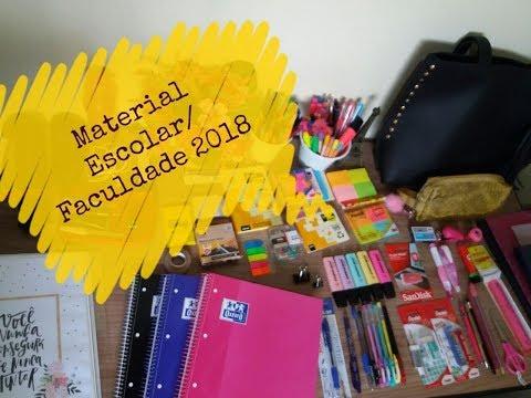 Material Escolar/ Faculdade 2018