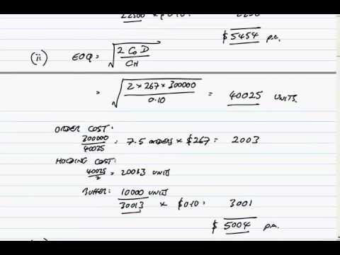 ACCA F9 December 2013 Question 3 Working capital