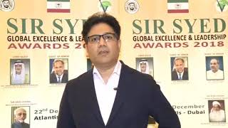 Mr. Amir Naqvi - Sir Syed Global Excellence Awards 2018