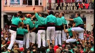 """Castellers de Vilafranca a la Diada del Mercadal 2015 - """" 3 de 9 amb folre i agulla """""""