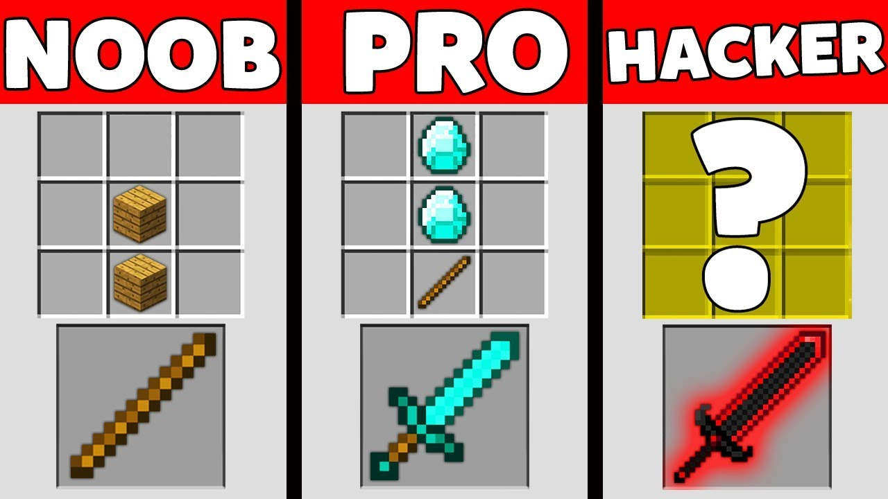 Minecraft NOOB vs PRO vs HACKER : SUPER SWORD CHALLENGE in minecraft / Animation