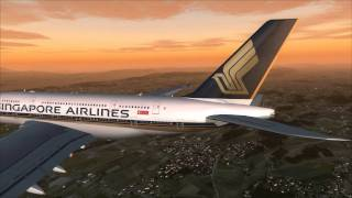 fsx - A380 Singapore Airlines landing Zurich