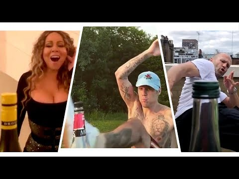 The Best Bottle Cap Challenges: Justin and Hailey Bieber, Mariah Carey, Shaq and More!