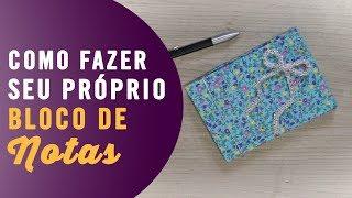 LEMBRANCINHA DE BLOCO DE NOTAS COM PAPELÃO DIY
