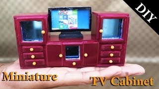 DIY  Realistic Miniature TV  Cabinet -  Handmade Dollhouse