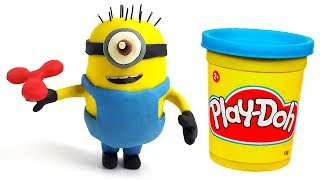 Minions Surprise Eggs Play-Doh. Part 3