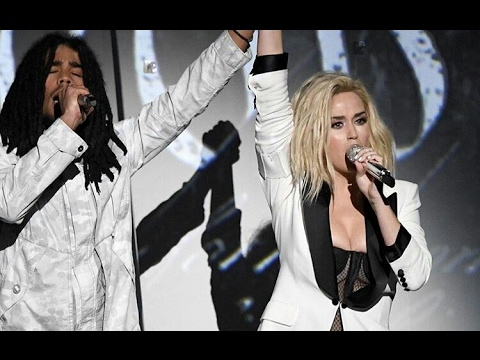 Katy Perry Performing With Bob Marley's Grandson Skip ...