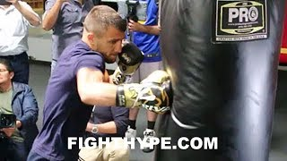 LOMACHENKO LIGHTS UP HEAVY BAG; GIVES LINARES A SNEAK PEEK OF WHAT'S TO COME