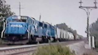 conrail sd60 6856 leads conrail train through hillside nj