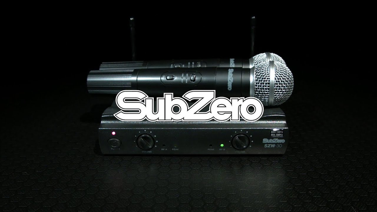 subzero szw 30 dual handheld wireless mic system gear4music demo youtube. Black Bedroom Furniture Sets. Home Design Ideas