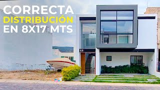 CASA CON CORRECTA DISTRIBUCIÓN EN 8X17 MTS | OBRAS AJENAS