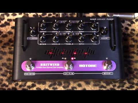 Hotone BRITWIND Nano Floor Series portable dual channel amp