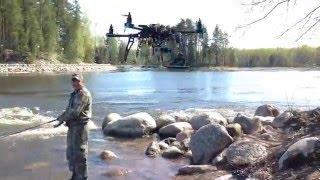 Снимаем видео с помощью квадрокоптера . Шлюз Гремучий(Девятое мая река Вуокса , запускаем квадрокоптер , ловим рыбу , пьём водку , дурачимся , просто отдыхаем на..., 2015-05-11T15:53:40.000Z)