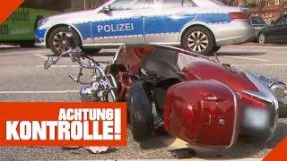Roller-Crash auf Kreuzung: Polizei ermittelt den Unfallverursacher! | Achtung Kontrolle | Kabel Eins