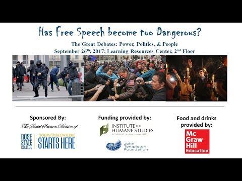 Great Debates: Power, Politics, & People - Free Speech - Sept. 26, 2017