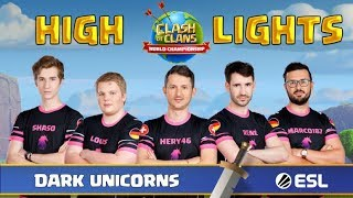 Clash of Clans Weltmeisterschaft Gruppe A mit Dark Unicorns Highlights | Clash of Clans Deutsch