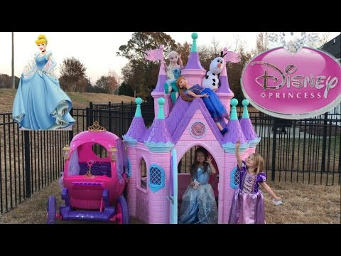 Disney Princess Castle Carriage Tea Party Elsa Anna Cinderella Rapunzel