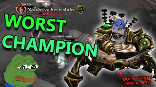 WORST CHAMPION IN LEAGUE OF LEGENDS URGOT ADC - League of Legends Commentary
