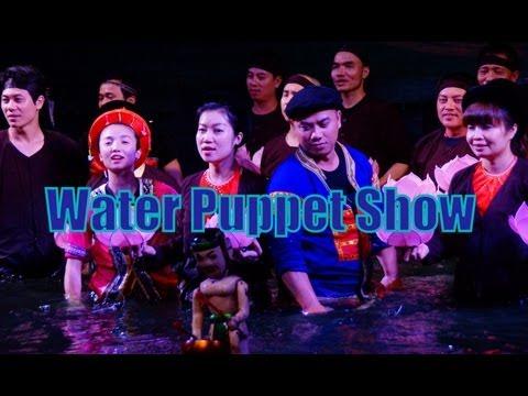 Water Puppet Show Performance (Múa rối nước) at Thang Long Theatre in Hanoi, Vietnam Travel Video