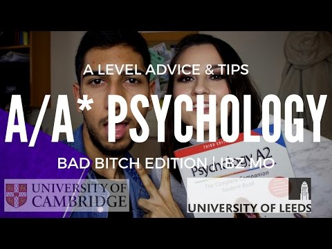 A/A* PSYCHOLOGY A LEVEL ADVICE & TIPS (BAD B**CH EDITION) | IBZ MO