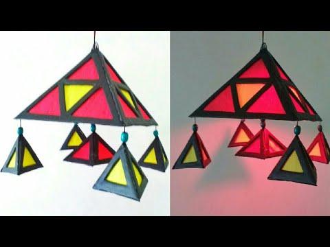 Decorative Aakash Kandil Making | DIY | Easy Akshkandil Making At Home | Punekar Sneha