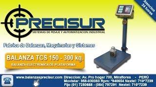 Balanza electronicas de Plataforma TCS de 300 kg. - Balanzas Precisur